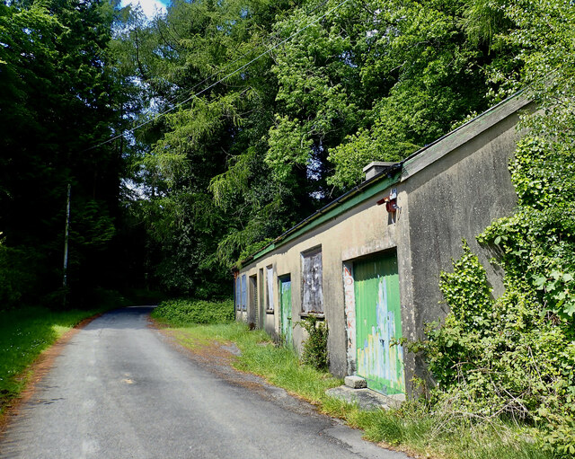 Department of Forestry NI workshops at the Priest's Bridge entrance to Tollymore Park