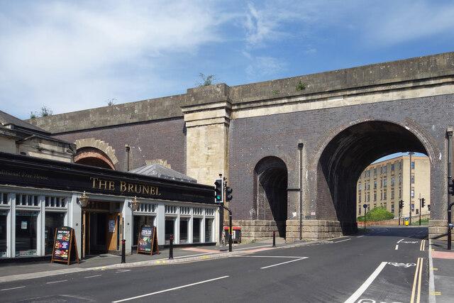 """The Brunel"" below the Viaduct"