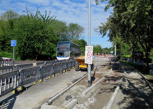 Cherry Hinton: roadworks at the crossroads