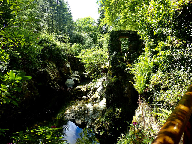 The Shimna gorge viewed from the Hermitage