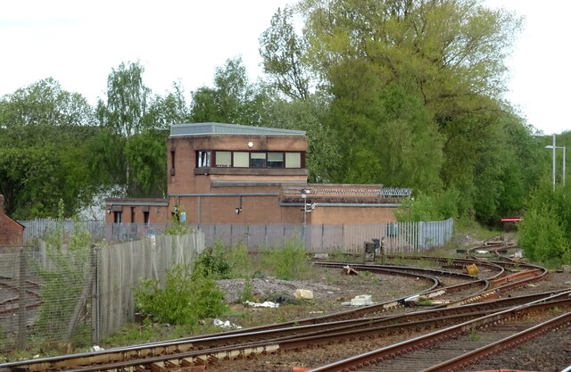 Signal box outside Kilmarnock Railway Station