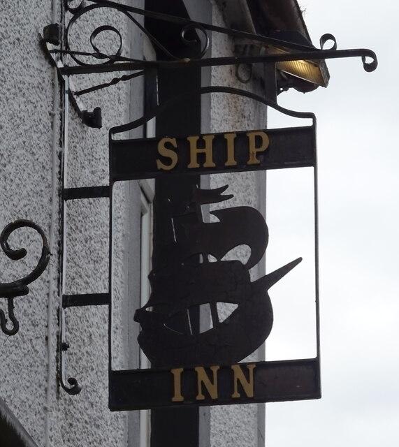Sign for the Ship Inn, Dumfries