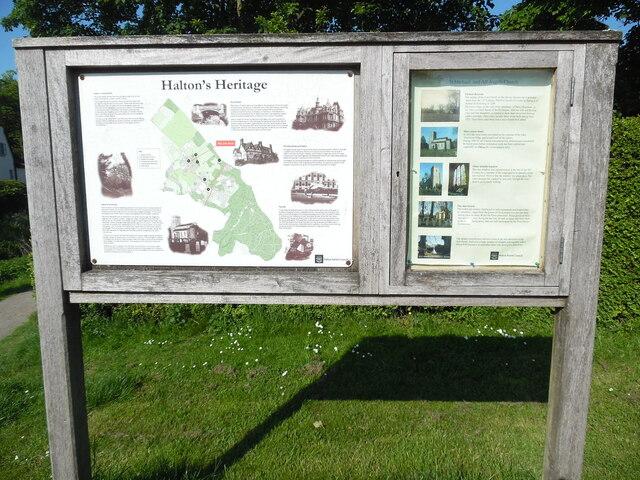 Information Board in Halton Village