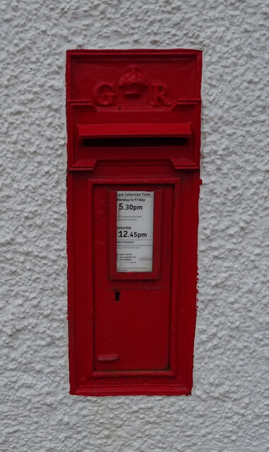 George V postbox on the A76, Closeburn