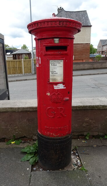 George V postbox on Lincluden Road, Dumfries