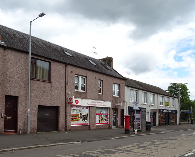Post Office and shop on St Michael Street (B725), Dumfries