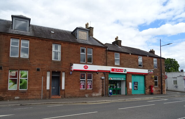 Post Office and shop on Whitesands, Dumfries