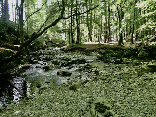 The confluence of the Shimna and Spinkwee Rivers at The Meeting of the Waters