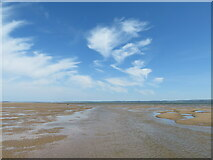 SS4499 : Burry Port beach at low tide, looking east by Gareth James