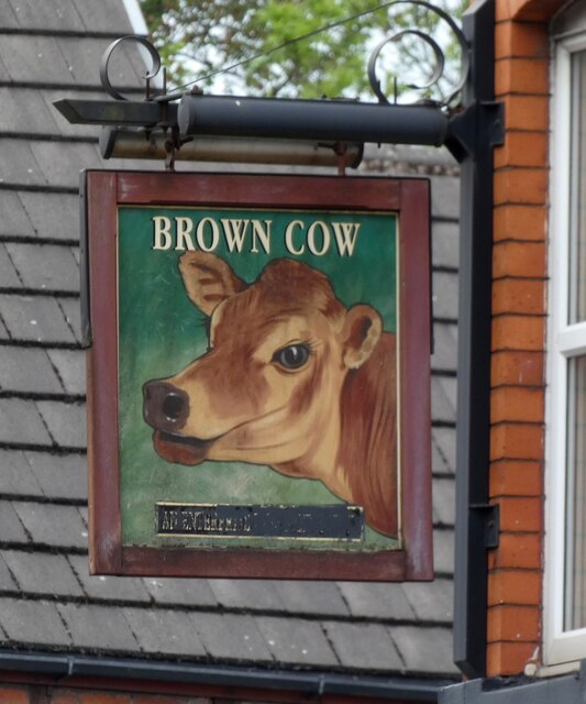 Sign of The Brown Cow