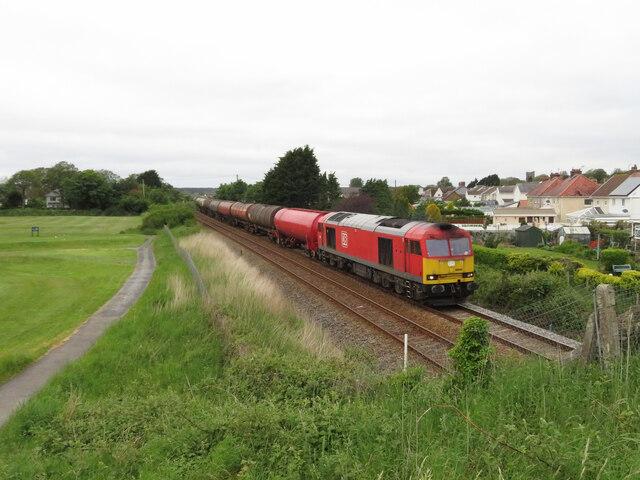 Oil train near Pembrey