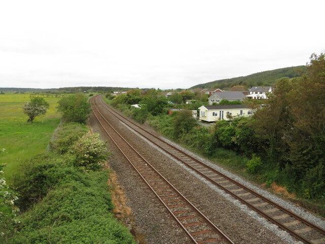 Railway line near Pembrey
