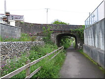 SN4201 : Former canal and railway route in Pembrey by Gareth James