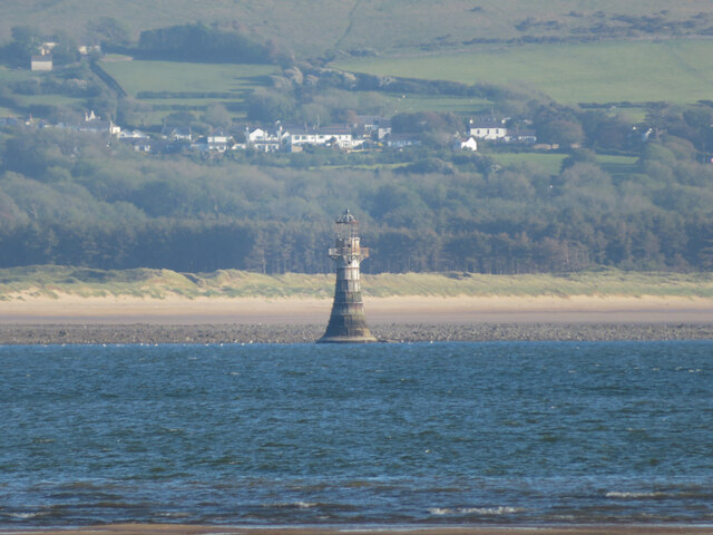 Whiteford Point lighthouse from Burry Port beach