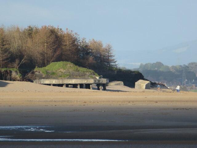 Derelict structures on Burry Port beach