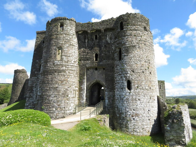 Entrance to Kidwelly Castle