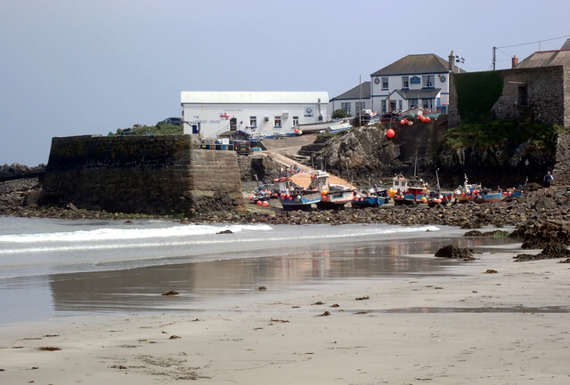 The harbour at low tide, Coverack