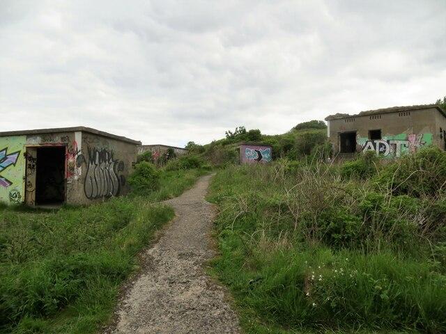 World War 2 buildings at the Binks, Cramond Island