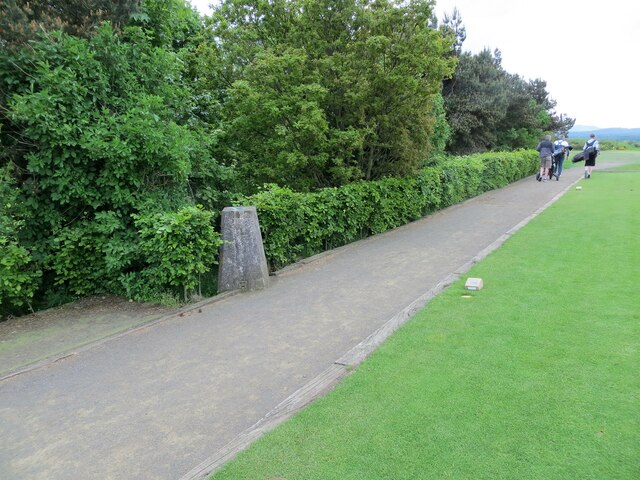 Trig pillar on Turnhouse Golf Course