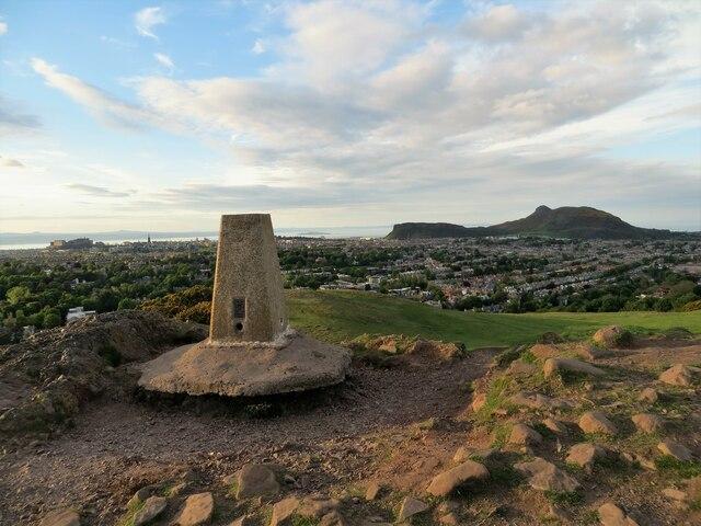 Trig pillar on Blackford Hill