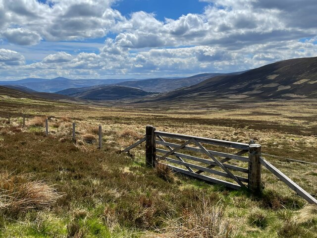 Moorland fence and gate