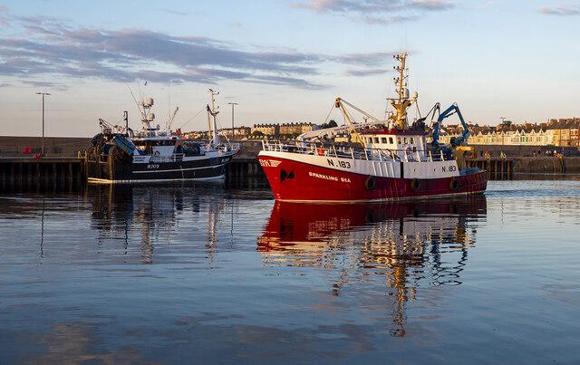 The 'Sparkling Sea' departing Bangor