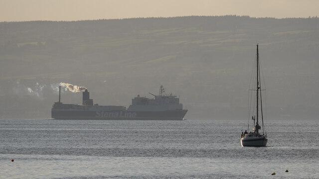 Yacht off Bangor