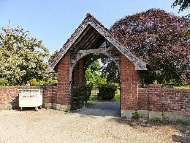 Lych gate, Burton Joyce cemetery