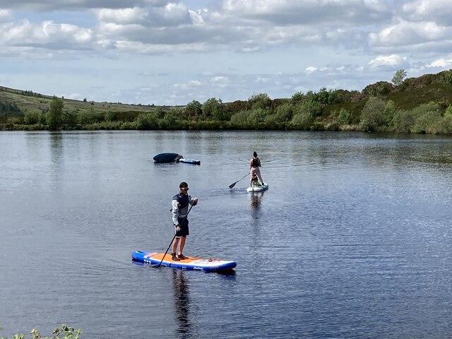 Paddleboarding at Oak Lough