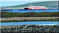 ND4293 : MV Alfred passes the Dam of Hoxa by Mick Garratt