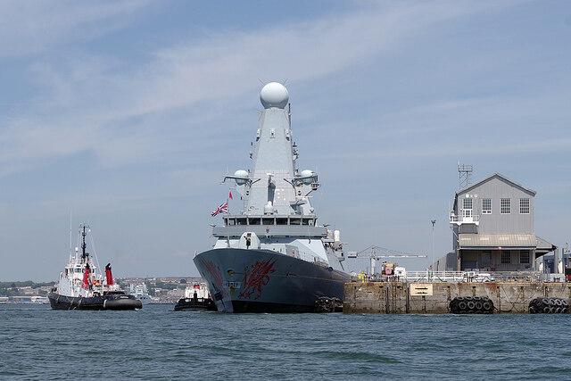 HMS Dragon at Devonport
