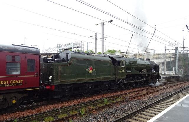 Royal Scot Class 6115, Scots Guardsman, Carlisle Railway Station