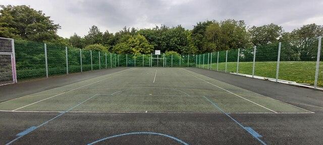 A Very Rural Basketball Court at Pilton