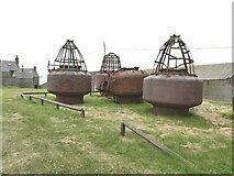 NJ9967 : Final resting place for old buoys by Oliver Dixon