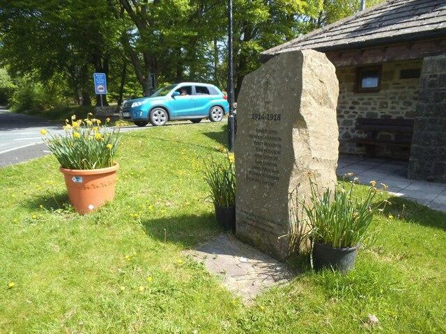 Tosside village war memorial