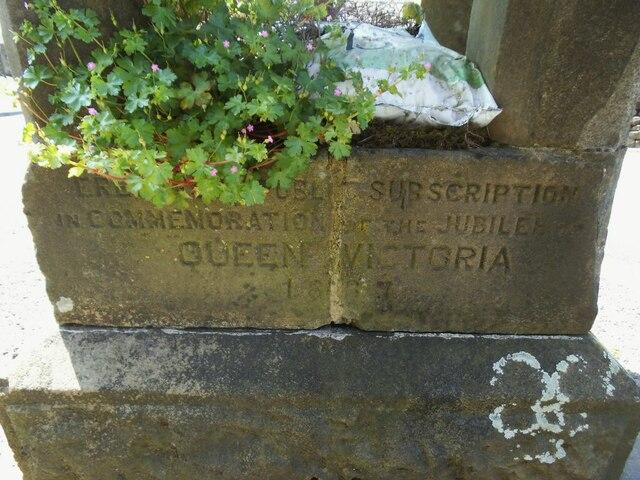Tosside Jubilee memorial - inscription