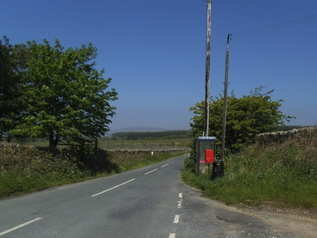 Phone box at Four Lanes Ends