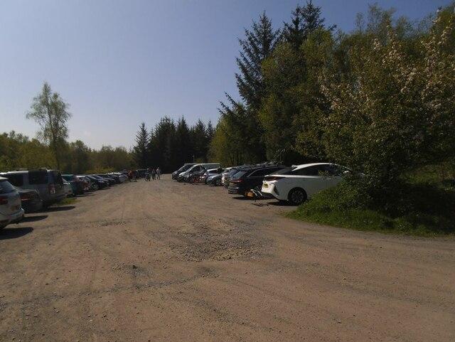 Car park for the Gisburn Forest Hub