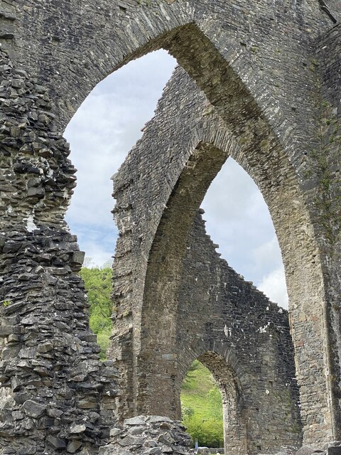 Three arches at Talley Abbey