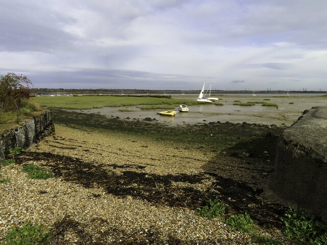 Shingle foreshore by Gillingham Marshes