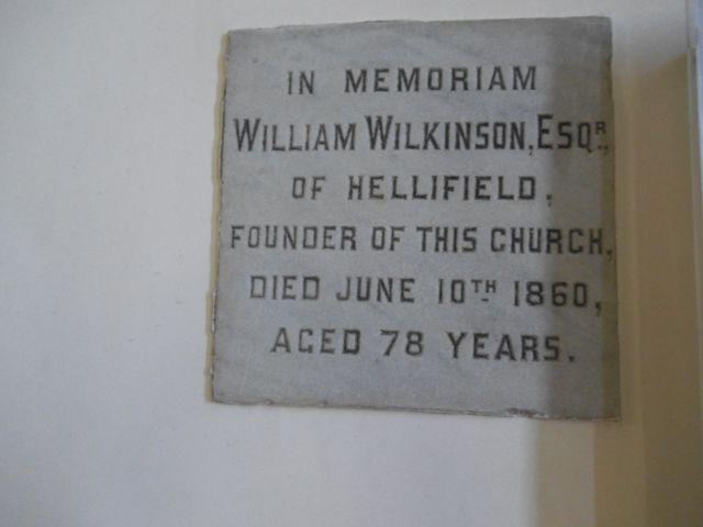 Dalehead St James, founder's plaque