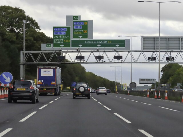 The A2 heading west