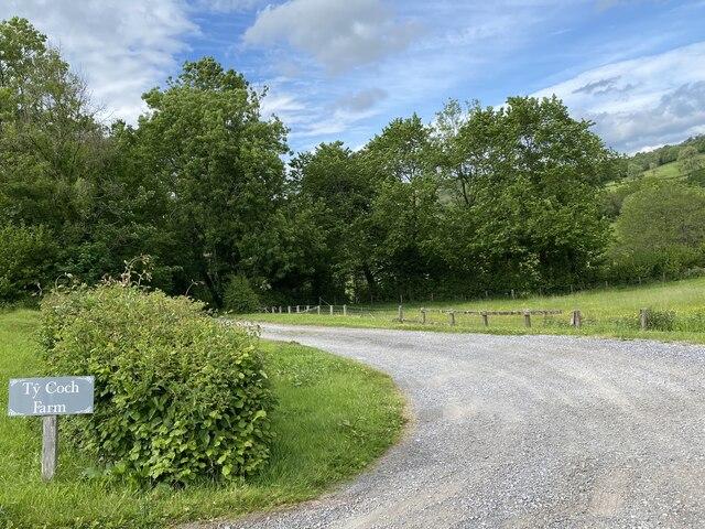 Entrance to Ty Coch Farm