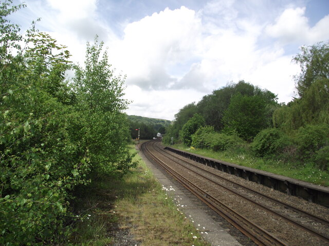 Hope Valley Line west from Grindleford station
