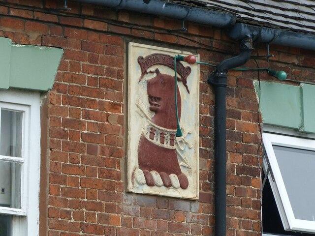 'Juxta Salopiam' on the Chadwick Arms pub, Hill Ridware