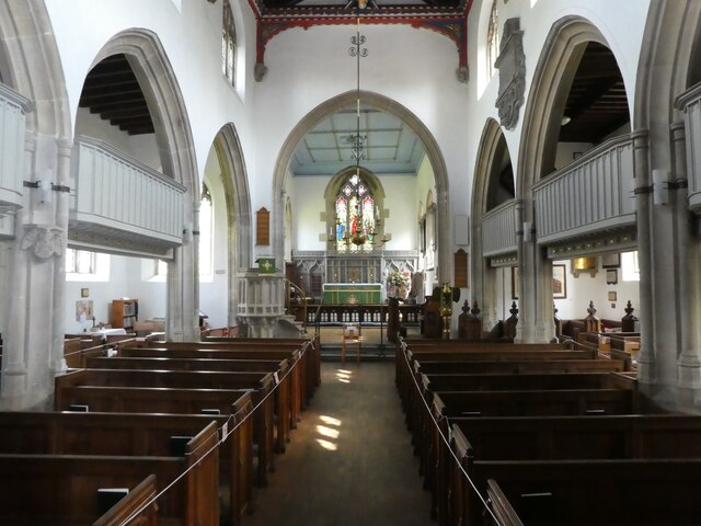 Interior, St Peters Church, Evercreech