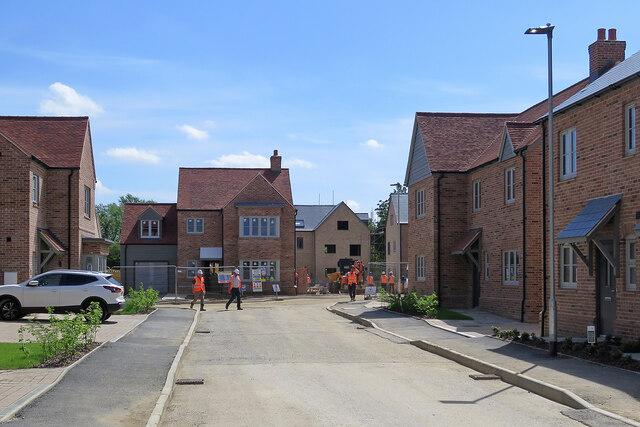 Comberton: new houses