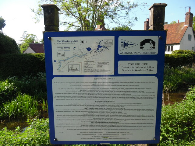 Information Board on the Wendover Arm Canal at Halton