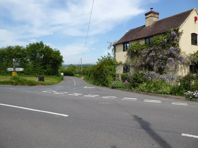 Road junction at Cross Houses
