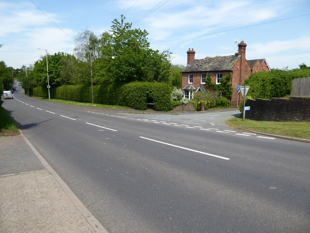The A458 in Morville